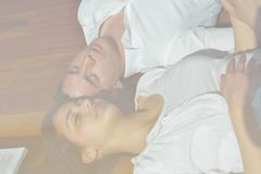 Young couple relax at home Stock Photos