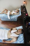 Young couple relax at wellness and spa treatment Royalty Free Stock Photography
