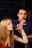 Young couple relaxing in a bar. Stock Photo