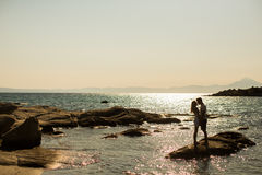Young couple relaxing on the beach Stock Image