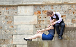 Young couple relaxing at the embankment Stock Photography