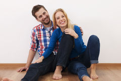 Young couple relaxing at home Royalty Free Stock Image