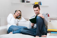 Young couple relaxing together Stock Images