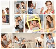 Young couple renewing home Royalty Free Stock Photos