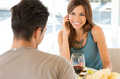 Young Couple At Restaurant Stock Image