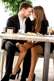Young couple at the restaurant Stock Image