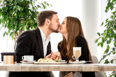 Young couple at the restaurant Royalty Free Stock Image