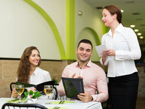 Young couple at restaurant Royalty Free Stock Photo