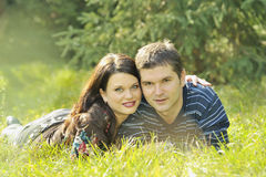 Young couple resting in the park Stock Image