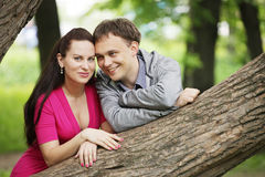 Young couple resting in the park Royalty Free Stock Image