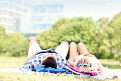 Young couple resting in the park Royalty Free Stock Photography