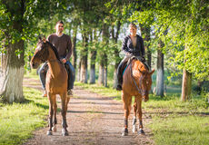 Free Young Couple  Riding A Horse Royalty Free Stock Photography - 72046307