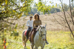 Young couple riding Stock Image