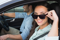 Young couple on a road trip Royalty Free Stock Photo