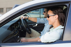 Young couple on a road trip Stock Photo