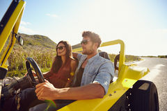 Young couple on roadtrip Stock Photo