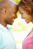 Young couple romantic portrait Stock Photo