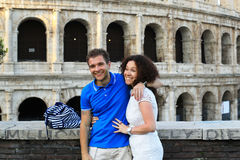 Young couple in Rome royalty free stock image