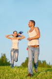 Young couple run Royalty Free Stock Photo