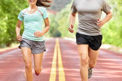 Young couple running Stock Photo