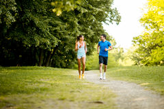 Young couple running Stock Photography