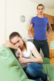 Young couple's conflict Stock Photo