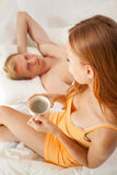 Young couple's morning Stock Image