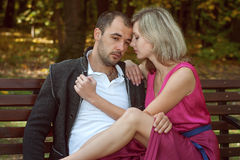 A young couple is sad Stock Photo