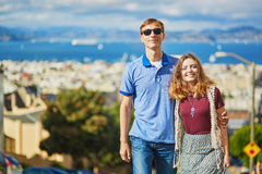 Young couple in San Francisco, California, USA Stock Photo