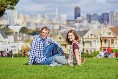 Young couple in San Francisco, California, USA Stock Photography