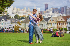Young couple in San Francisco, California, USA Stock Images