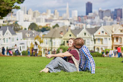 Young couple in San Francisco, California, USA Stock Photography
