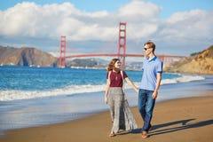 Young couple in San Francisco, California, USA Stock Photos