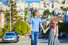 Young couple in San Francisco, California, USA Royalty Free Stock Photos