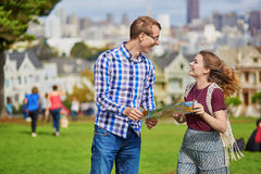 Young couple in San Francisco, California, USA Stock Image