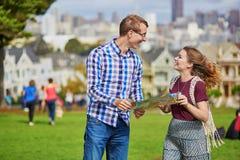 Young couple in San Francisco, California, USA Stock Image
