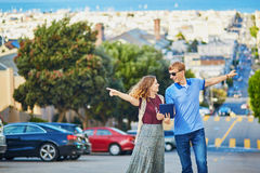 Young couple in San Francisco, California, USA Royalty Free Stock Photo