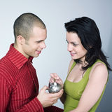 Young couple saving Royalty Free Stock Photo