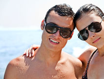 Young couple sea Royalty Free Stock Images