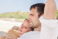 Young couple at sea Stock Photography