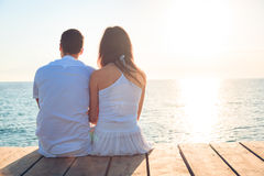 Young Couple By The Sea stock images
