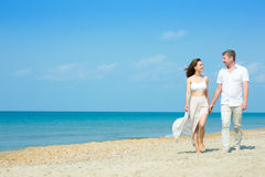 Young couple by the sea Stock Photography