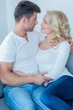 Young couple share a tender moment Stock Photo