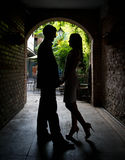 Young couple sharing a private moment. A young couple share a private moment Royalty Free Stock Photo