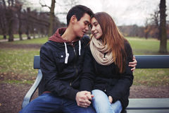 Young couple sharing a tender moment Royalty Free Stock Image