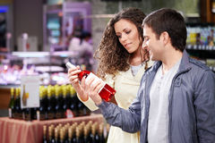 Young couple in shop stock image