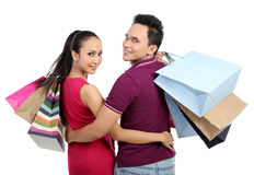 Young couple shopping Royalty Free Stock Photo