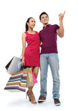 Young couple shopping Royalty Free Stock Photos