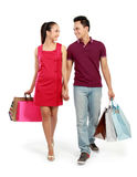 Young couple shopping Stock Image