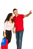 Young couple at shopping Stock Photo